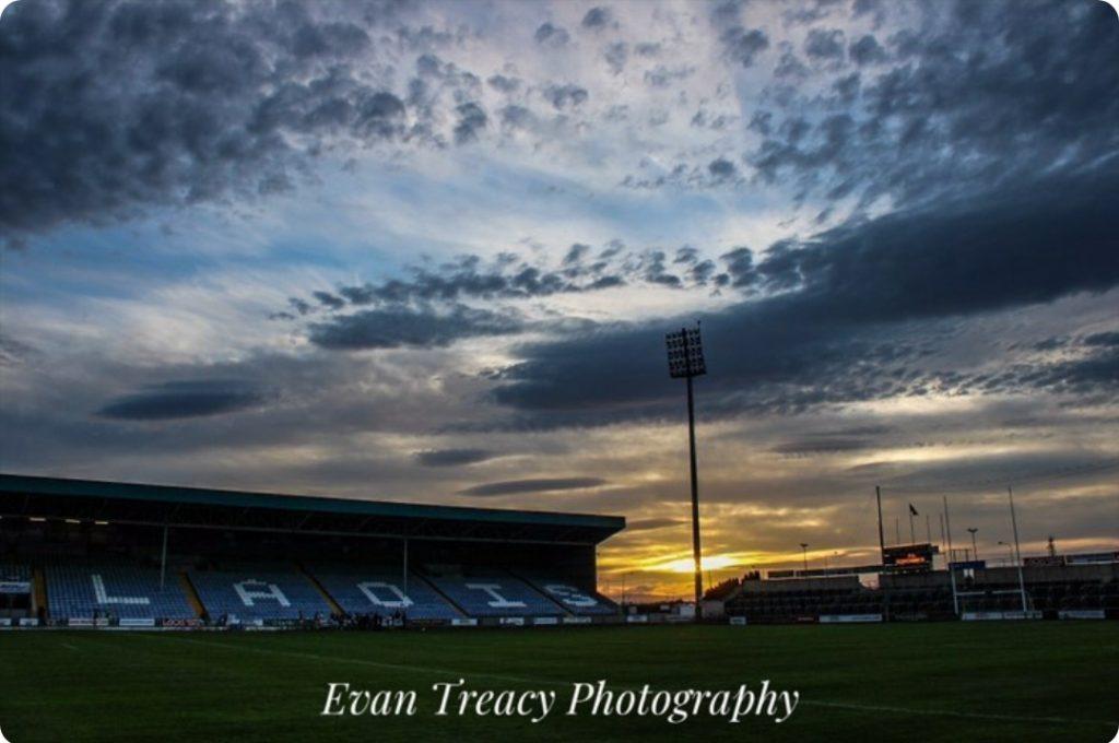 photo of O' Moore Park Portlaoise at dusk