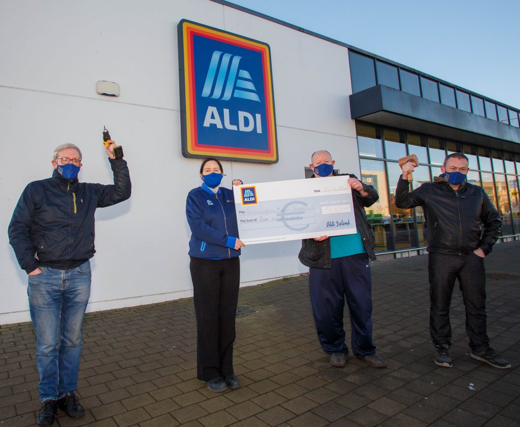 photo of donation to local Laois charities by Aldi stores and its staff in Laois