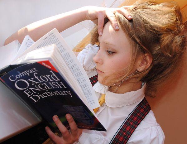 photo of child studying