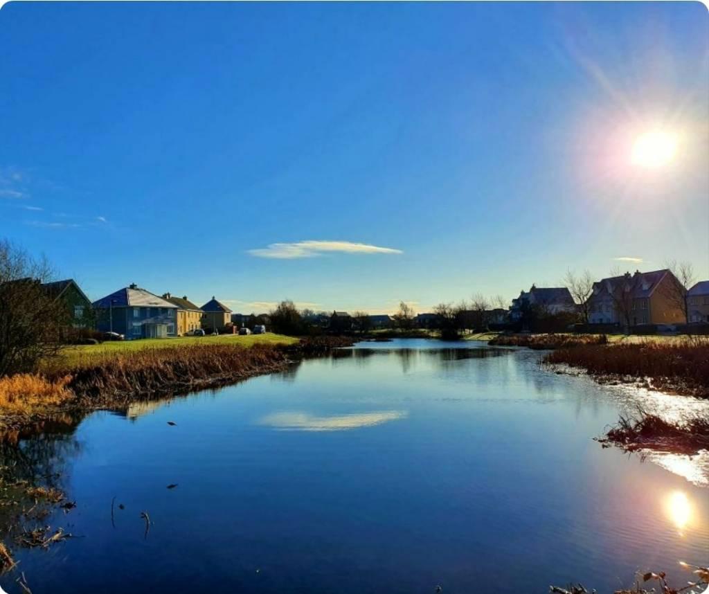 photo of sun shining on lake in Kilminchy Laois
