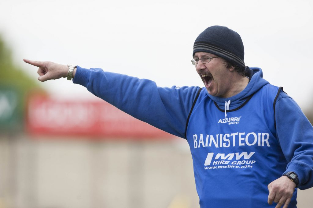 Laois manager Seamus Plunkett on the line against Carlow in the Leinster SHC at O'Moore Park. Picture: Alf Harvey/hrphoto.ie