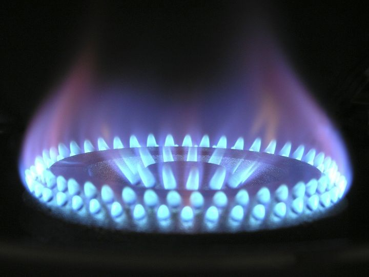 Photo of lit gas ring