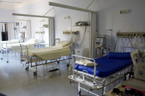 photo of empty hospital ward