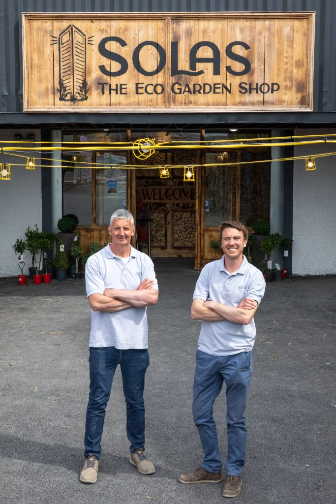 Pictured at Solas Eco Garden Centre, Portarlington, Co.Laois David Maher on the left and John Carey on the right.