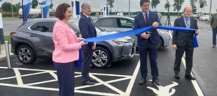 Latest Laois News: Ireland's first high power electric vehicle eight-bay charging hub unveiled at Junction 14