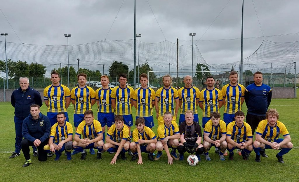 Mountmellick United's squad that went down fighting in a five-goal thriller.