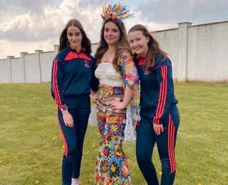 Latest Laois Event: Mountrath Community School's Junk Kuture Pandemic-inspired entry into Grand Final