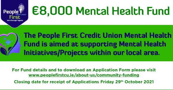 Latest Laois News: Mental Health Fund launched by People First Credit Union